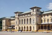Old,secesional,ninenteenth century building of SPA in centre of Krynica resort — Stock Photo