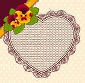 Vintage background with lace ornaments and flowers. Vector — Stock Vector