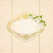 Vintage background with flowers and ornaments - Stock Photo
