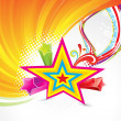 Abstract colorful star background - Stockvectorbeeld