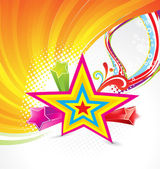Abstract colorful star background — Vector de stock