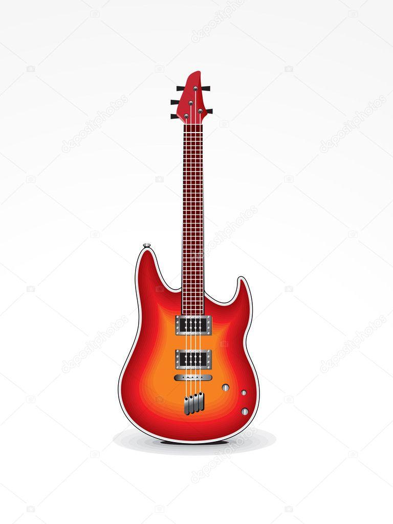 抽象的吉他图标矢量图