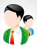 ícone de usuário brilhante abstrato — Vetor de Stock