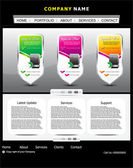 Abstract web template design — Vector de stock
