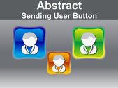 De knoop van het pictogram van de abstracte glanzende gebruiker — Stockvector