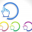 Vector de stock : Abstract hand cursor button