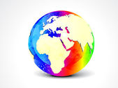 Abstract colorful globe — Stock Vector