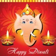 Abstract diwali card - Stock Vector