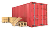 Cargo Container and Goods. — Stock Photo