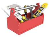 Toolbox with tools. — Stock Photo