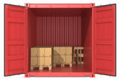Container with goods. — Stock Photo