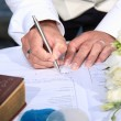 Wedding signing - Foto Stock