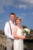 Bride and groom — Stockfoto