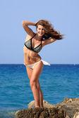 Young girl with bikini — Stockfoto