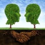 zakelijke samenwerking en groei — Stockfoto
