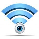 Wireless Network Security Symbol — Stock Photo