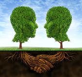 Crescimento e colaboração empresarial — Foto Stock