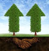 Crecimiento de asociación empresarial — Foto de Stock
