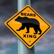 Bear Market Warning sign - Stock Photo