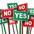 Voting Yes Or No — Stock Photo