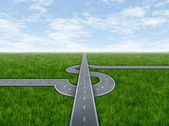 Zakelijke succes snelweg — Stockfoto