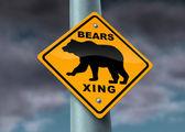 Bear Market Warning sign — Stock Photo
