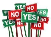 Oylama evet ya da hayır — Stok fotoğraf