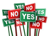 Voting Yes Or No — Foto Stock