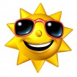 Royalty-Free Stock Photo: Happy Sun Character