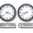 Stock Photo: World Time Zone Clocks
