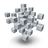 Network Connection Cubes — Stock Photo