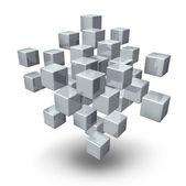 Cubos de conexão de rede — Foto Stock
