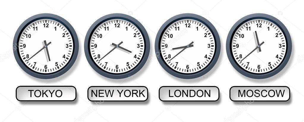 World Time Zone Clocks Stock Photo 169 Lightsource 11012002