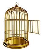 открытые птица клетка — Стоковое фото