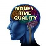 Brain Money Time Quality — Stock Photo