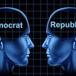 Постер, плакат: American Politics With Democrat and Republican