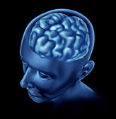 Human Brain on black Background — Stock Photo