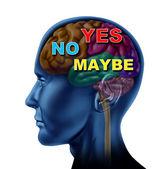 Yes No Maybe Choice — Stock Photo