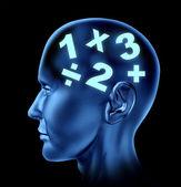 Matematyka mózg — Zdjęcie stockowe