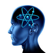 Atom molecule science symbol — Stock Photo
