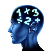 Math Brain — Stock Photo