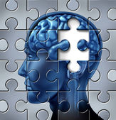Memory loss and alzheimers Disease — Stock Photo