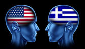 U.S.A and Greece trade — Stock Photo