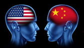 American and China trade — Stock Photo
