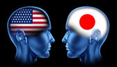 U.S.A and Japan trade Cooperation — Stock Photo