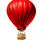 Sıcak hava balonu — Stok fotoğraf