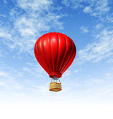 Hot Air Balloon Flying — Stock Photo
