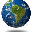 Stock Photo: South-america-planet-earth