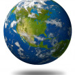 Earth Planet Featuring North America — Stock Photo