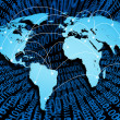 Global internet with digital connections — Stock Photo